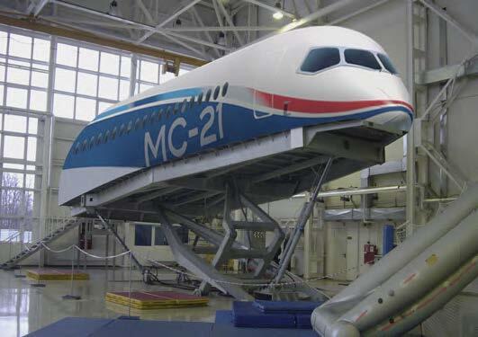 Внешний вид тренажера аварийно-спасательных процедур (CEET) МС-21